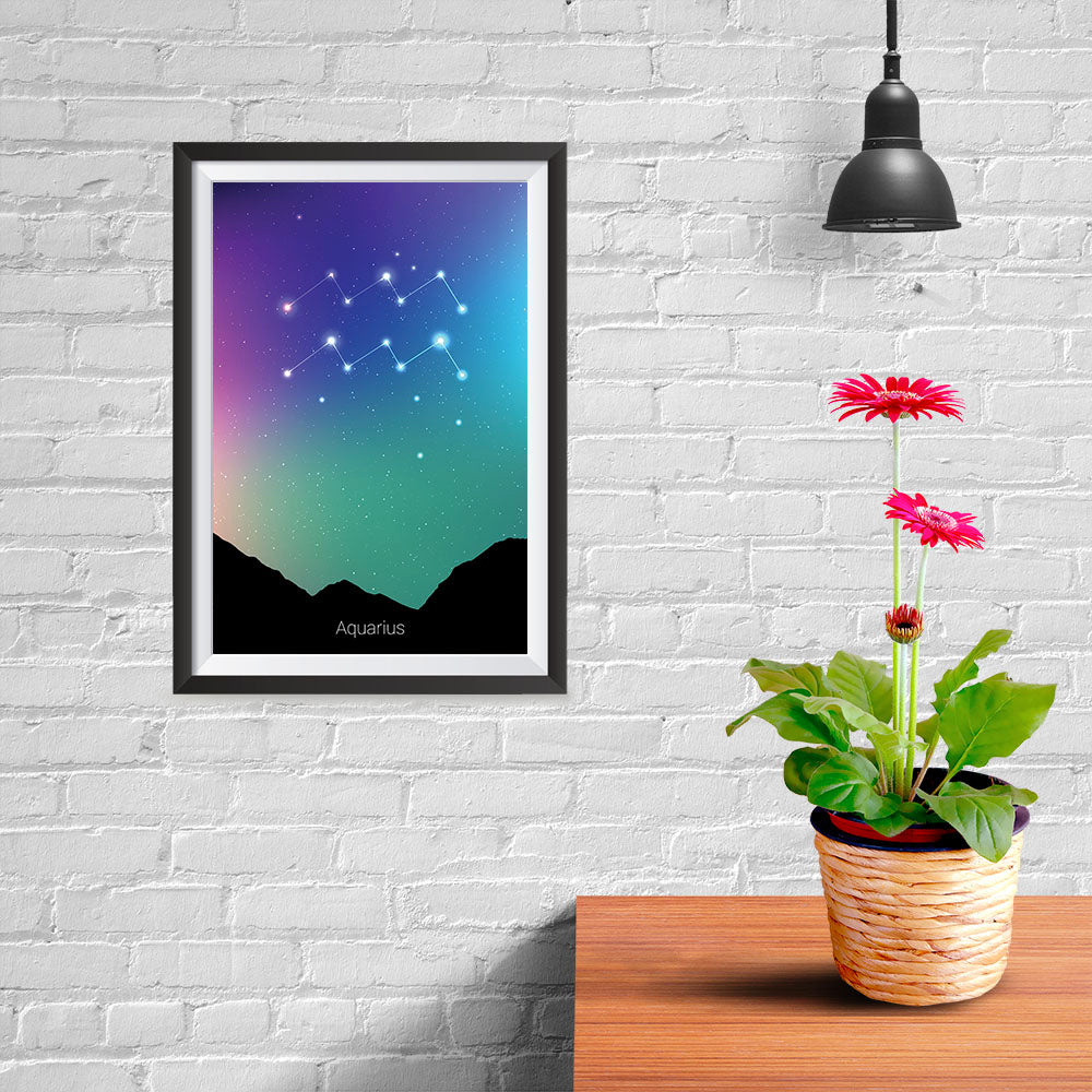 Ezposterprints - Horoscope Posters: Aquarius - 08x12 ambiance display photo sample