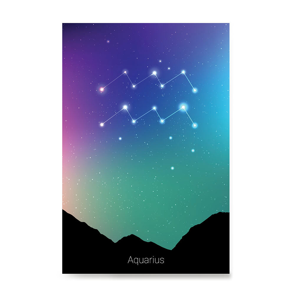 Ezposterprints - Horoscope Posters: Aquarius