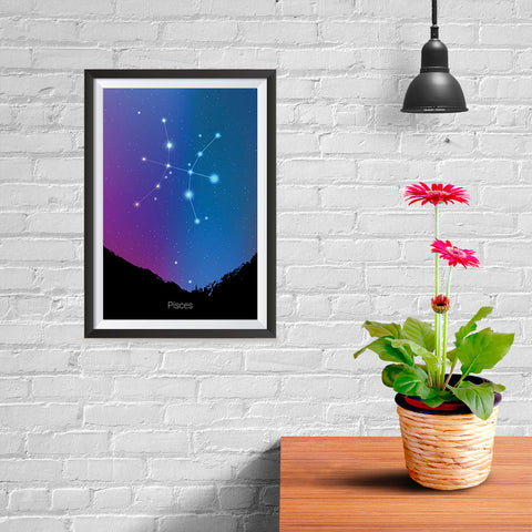 Ezposterprints - Horoscope Posters: Pisces - 08x12 ambiance display photo sample