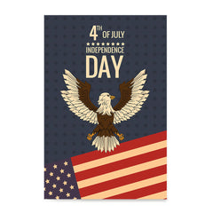 Ezposterprints - July IV Eagle - Retro | Independence Day 4th of July Posters