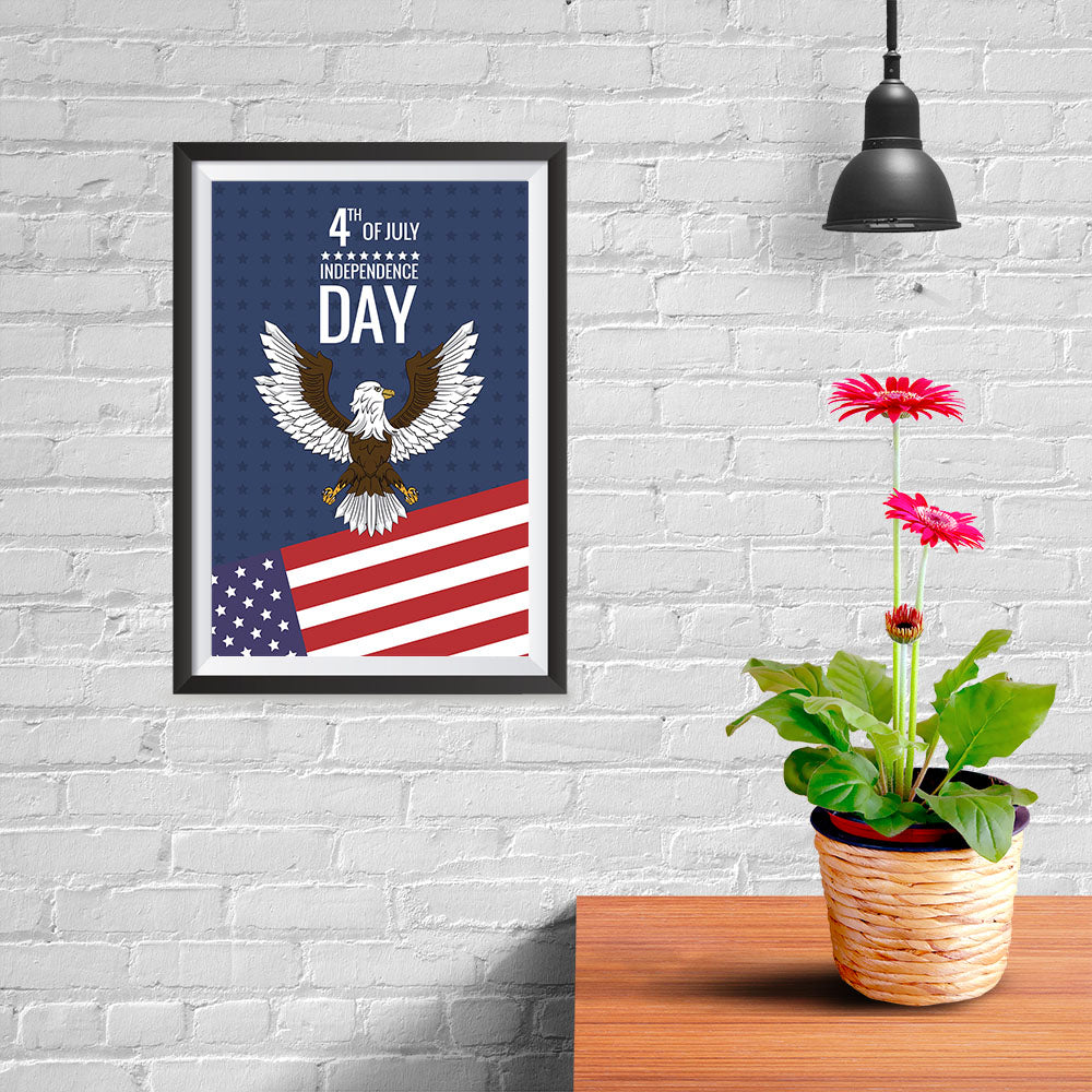 Ezposterprints - July IV Eagle | Independence Day 4th of July Posters - 08x12 ambiance display photo sample