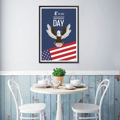 Ezposterprints - July IV Eagle | Independence Day 4th of July Posters - 12x18 ambiance display photo sample