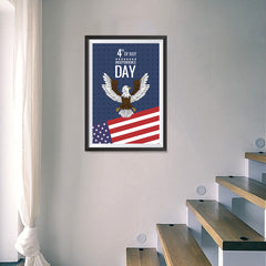Ezposterprints - July IV Eagle | Independence Day 4th of July Posters - 16x24 ambiance display photo sample