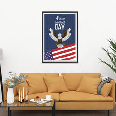 Ezposterprints - July IV Eagle | Independence Day 4th of July Posters - 24x36 ambiance display photo sample