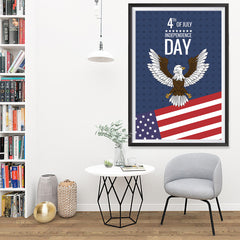 Ezposterprints - July IV Eagle | Independence Day 4th of July Posters - 32x48 ambiance display photo sample