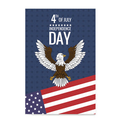 Ezposterprints - July IV Eagle | Independence Day 4th of July Posters