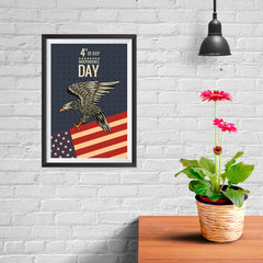 Ezposterprints - July IV Eagle 2 - Retro | Independence Day 4th of July Posters - 08x12 ambiance display photo sample