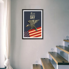 Ezposterprints - July IV Eagle 2 - Retro | Independence Day 4th of July Posters - 16x24 ambiance display photo sample
