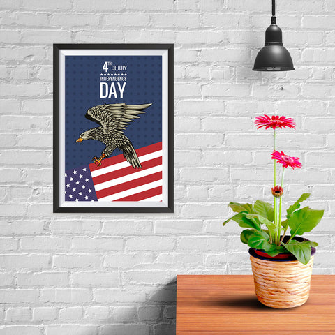 Ezposterprints - July IV Eagle 2 | Independence Day 4th of July Posters - 08x12 ambiance display photo sample