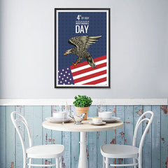 Ezposterprints - July IV Eagle 2 | Independence Day 4th of July Posters - 12x18 ambiance display photo sample