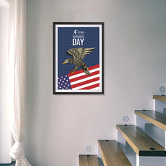 Ezposterprints - July IV Eagle 2 | Independence Day 4th of July Posters - 16x24 ambiance display photo sample