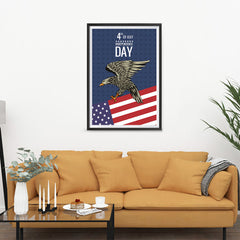 Ezposterprints - July IV Eagle 2 | Independence Day 4th of July Posters - 24x36 ambiance display photo sample