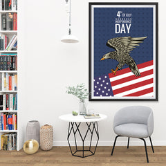 Ezposterprints - July IV Eagle 2 | Independence Day 4th of July Posters - 32x48 ambiance display photo sample