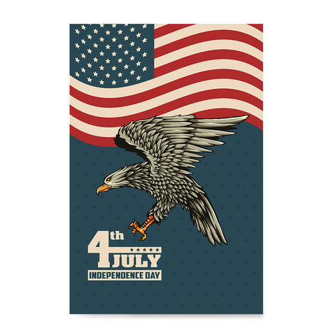 Ezposterprints - July IV Eagle 3 - Retro | Independence Day 4th of July Posters