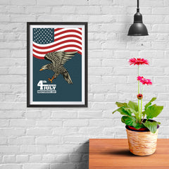 Ezposterprints - July IV Eagle 3 | Independence Day 4th of July Posters - 08x12 ambiance display photo sample