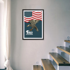 Ezposterprints - July IV Eagle 3 | Independence Day 4th of July Posters - 16x24 ambiance display photo sample