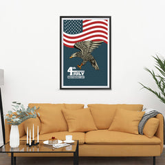 Ezposterprints - July IV Eagle 3 | Independence Day 4th of July Posters - 24x36 ambiance display photo sample