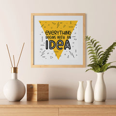Ezposterprints - Everything Begins With an Idea - 12x12 ambiance display photo sample