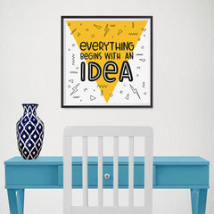 Ezposterprints - Everything Begins With an Idea - 16x16 ambiance display photo sample