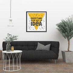 Ezposterprints - Everything Begins With an Idea - 24x24 ambiance display photo sample