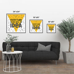 Ezposterprints - Everything Begins With an Idea ambiance display photo sample