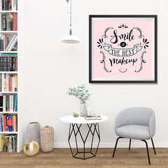 Ezposterprints - Smile is The Best Makeup - 32x32 ambiance display photo sample