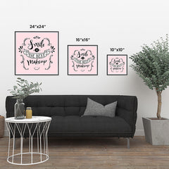 Ezposterprints - Smile is The Best Makeup ambiance display photo sample
