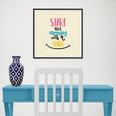Ezposterprints - Start Your Morning With A Smile - 16x16 ambiance display photo sample