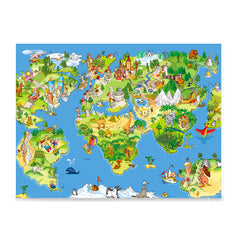 Kids\' Animals Today World Map, Kids World Maps – EzPosterPrints