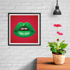 Ezposterprints - The Green - Pop Art Lip - 10x10 ambiance display photo sample