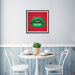 Ezposterprints - The Green - Pop Art Lip - 16x16 ambiance display photo sample