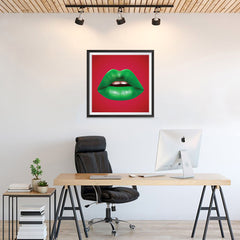 Ezposterprints - The Green - Pop Art Lip - 24x24 ambiance display photo sample