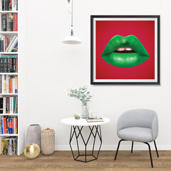 Ezposterprints - The Green - Pop Art Lip - 32x32 ambiance display photo sample