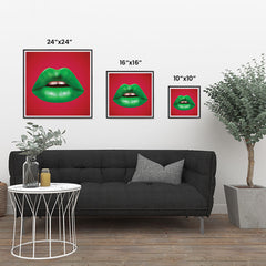 Ezposterprints - The Green - Pop Art Lip ambiance display photo sample