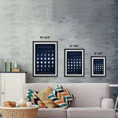 Ezposterprints - Lunar Phases Poster ambiance display photo sample