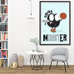 Ezposterprints - Cool Monster | The Cute Little Monsters Posters - 32x48 ambiance display photo sample