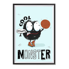 Ezposterprints - Cool Monster | The Cute Little Monsters Posters ambiance display photo sample