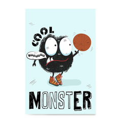 Ezposterprints - Cool Monster | The Cute Little Monsters Posters