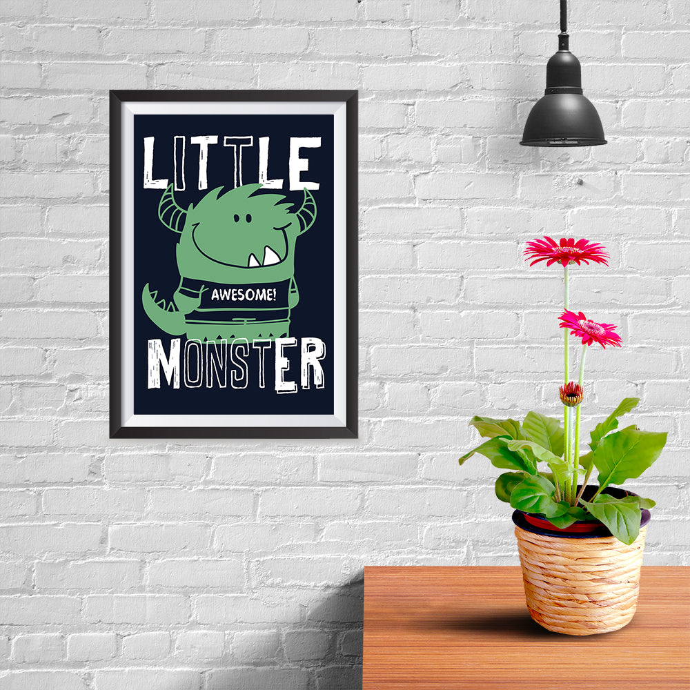 Ezposterprints - Little Awesome Monster - 08x12 ambiance display photo sample