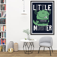 Ezposterprints - Little Awesome Monster | The Cute Little Monsters Posters - 32x48 ambiance display photo sample