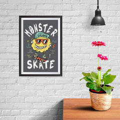 Ezposterprints - Monster Skate - 08x12 ambiance display photo sample
