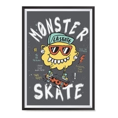 Ezposterprints - Monster Skate | The Cute Little Monsters Posters ambiance display photo sample