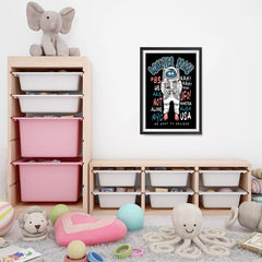 Ezposterprints - The Monster in Space, We Want To Believe | The Cute Little Monsters Posters - 16x24 ambiance display photo sample