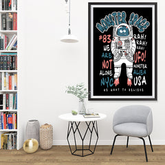 Ezposterprints - The Monster in Space, We Want To Believe | The Cute Little Monsters Posters - 32x48 ambiance display photo sample