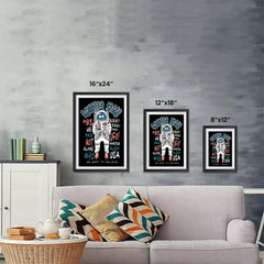 Ezposterprints - The Monster in Space, We Want To Believe | The Cute Little Monsters Posters ambiance display photo sample