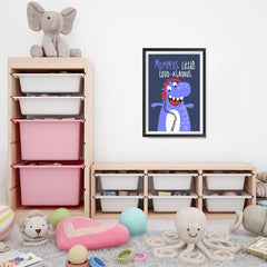 Ezposterprints - Mummys Little Loud-asaurus | The Cute Little Monsters Posters - 16x24 ambiance display photo sample