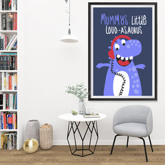 Ezposterprints - Mummys Little Loud-asaurus | The Cute Little Monsters Posters - 32x48 ambiance display photo sample