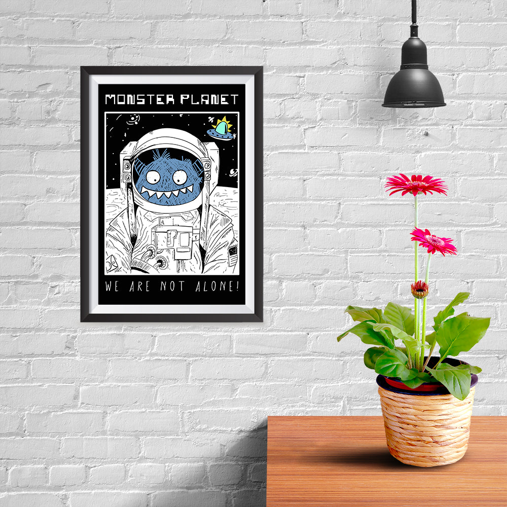 Ezposterprints - Monster Planet, We Are Not Alone - 08x12 ambiance display photo sample