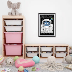 Ezposterprints - Monster Planet, We Are Not Alone | The Cute Little Monsters Posters - 16x24 ambiance display photo sample