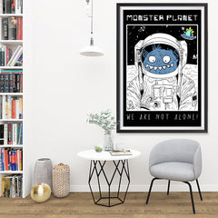 Ezposterprints - Monster Planet, We Are Not Alone | The Cute Little Monsters Posters - 32x48 ambiance display photo sample